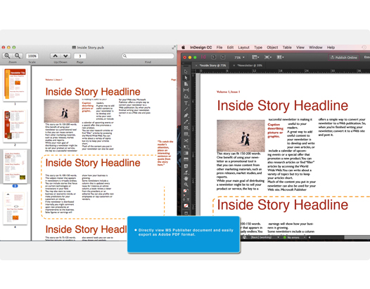 Canyua Publisher to InDesign for Mac User Guide