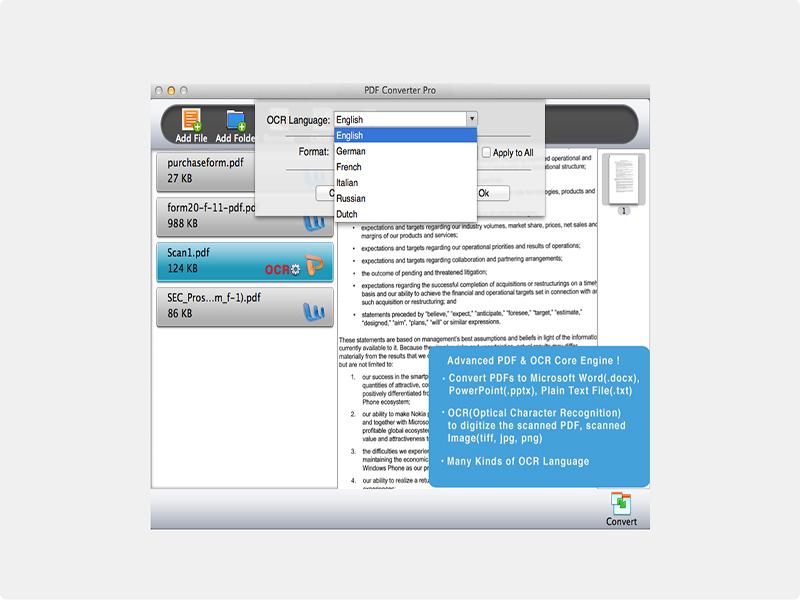PDF Converter Pro Screen shot